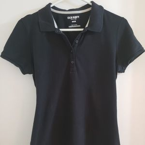 Old Navy M Womens Black Polo